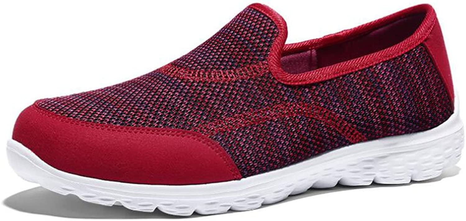 HUAN Women's shoes Knit Lightweight Sneakers Flat Loafers Casual Running shoes Low-Top Sneakers