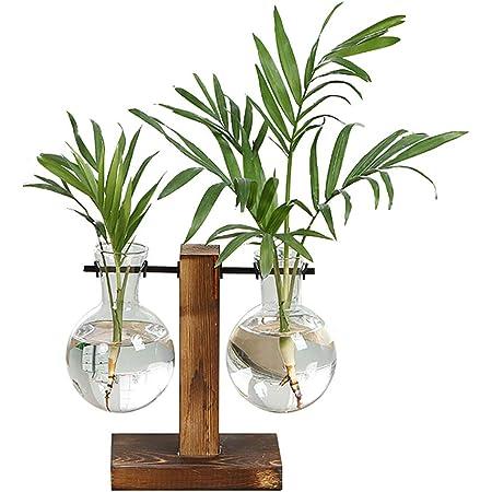 Organisations vase Olivia Verre avec Métal Support 8x11 cm Pot Support Hauteur 32 cm