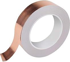 Vegena Koperband, koperfolie, tape, 30 m x 30 mm, koperfolie, koperband, EMI, afschermband, hoge temperatuur, hittebestend...