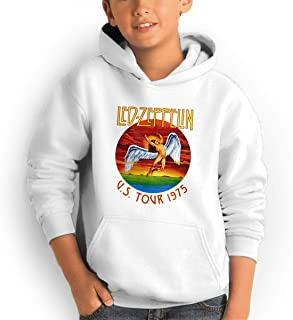 GaoWedf Boy and Girl Led Zeppelin Icarus 1975 Fashion Teen Hooded Pocket Sweater Black