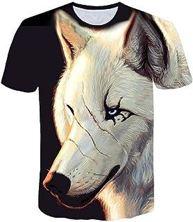 Fxbar,Evil Fox 3D Printed Tee Shirts Mens Big and Tall Lightweight Summer Tee Top Blouses