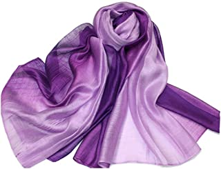SNUG STAR Cotton Silk Scarf Elegant Soft Wraps Color Shade Scarves for Women