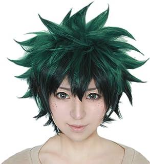 ROLECOS Izuku Midoriya Wig Deku Anime Cosplay Short Green Wig ML216