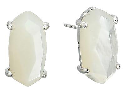 Kendra Scott Betty Earrings (Rhodium/Ivory Mother-of-Pearl) Earring