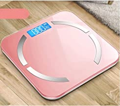 NYDZDM Electronic Scale Intelligent Body Fat Called Household Small Adult Precision Electronic Scales Compact Weight Scale Body Weight Loss Measurement Fat Female USB Charging (Color : Pink)