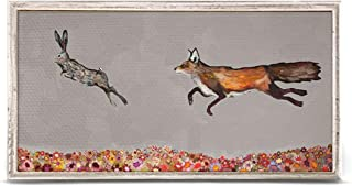 GreenBox Art + Culture The Chase on Gray by Eli Halpin 10 x 5 Mini Framed Canvas