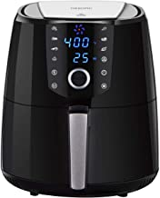 OMORC 4QT Air Fryer L Compact Size(For 2-5 People), Hot Air Fryer Oven, Oilless Air Fryer w/Quick Knob & Touch Screen, Air Cooker w/8-15 Presets, Keep Warm, Dishwasher Safe, Recipe, 1400W (ME176)