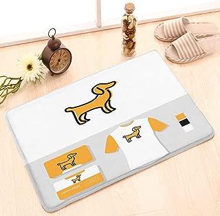 zexuandiy Door Mats Kitchen Floor Bath Entrance Rug Mat Indoor Bathroom Decor Doormats Non Slip 23.6 W X 15.7 W Inches Puppy Logo Business Card Mockup Puppy Logo Business Card Mockup