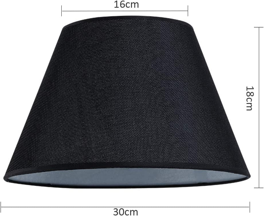 Small Lampshade Covers for Table lamp Rustic Lighting Accessories Living Room Linen Lampshade Restaurant Hotel Decoration Shade,Beige