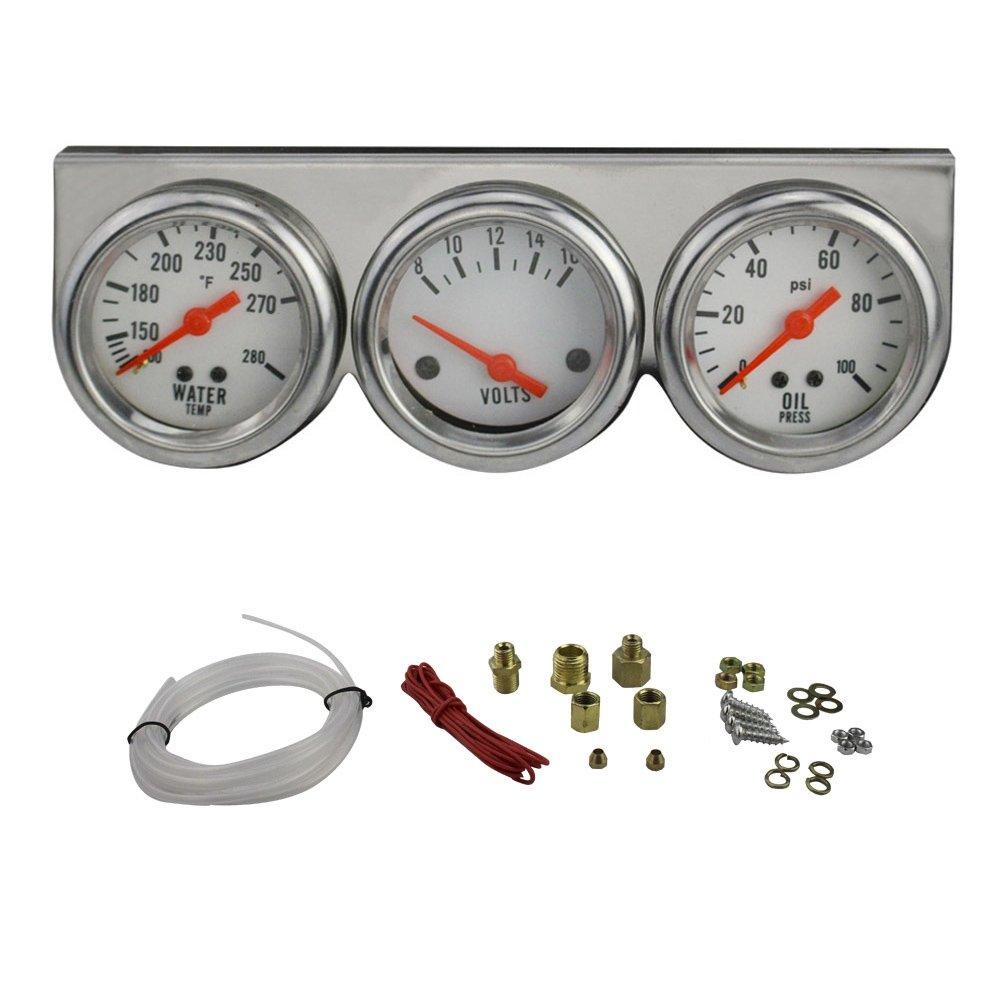 Auto Meter 2397 Autogage Black Console Oil//Volt//Water Gauge