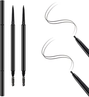 Boobeen 2Pcs Ultra-fine Eyebrow Pencil - Waterproof Makeup Brow Stylist Definer Eyebrow Pen - Draws Tiny Brow Hairs & Natural Daily Eyebrow Makeup