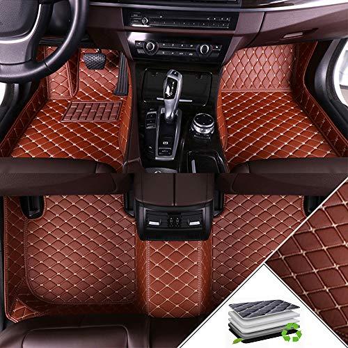 ALLYARD Auto-Fussmatten Für Volks Wagen VW Sharan 2016-2018 6-Seats Schrägheck Autofußmatten Volldeckung XPE Leder Autoteppiche Schutzmatten Anti-Rutsch-Teppich Braun