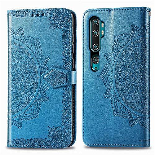 Bear Village Hülle für Xiaomi MI Note 10 Pro/MI Note 10 / MI CC9 Pro, PU Lederhülle Handyhülle für Xiaomi MI Note 10 Pro / CC9 Pro, Brieftasche Kratzfestes Handytasche mit Kartenfach, Blau