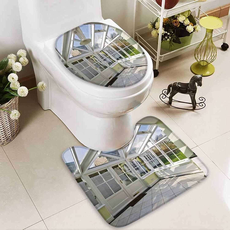 Analisahome U-Shaped Toilet Mat-Soft Modern Winter Garden Double Glazed Window Construction 2 Piece Toilet Toilet mat