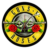 BottleClocks Iconic Guns & Roses Reloj de pared de vinilo