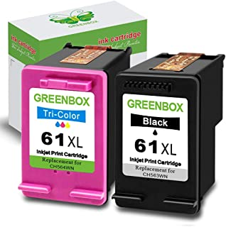 GREENBOX Remanufactured Ink Cartridge 61 Replacement for HP 61XL 61 XL for Hp Envy 4500..