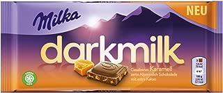 Milka Dark Milk Salted Caramel Dark Alpinemilk Chocolate Bar Candy Original German Chocolate 85g/2.99oz