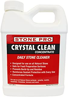 Stone Pro Crystal Clean - Daily Stone and Tile Cleaner - Concentrate - 1 Quart