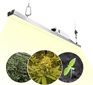 LED Grow Light Bar, CANAGROW 300W Sunlike 3500K Full Spectrum Grow Lights for Indoor Plants, Plant Growing Light Bar with Samsung LM301B LED, MEAN WELL Power Supply, Designed for Plants All Growth Sta