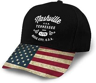 Nashville Tennessee USA Vintage Adults Baseball Hats Snapback Hat Trucker Hat Distressed Flag