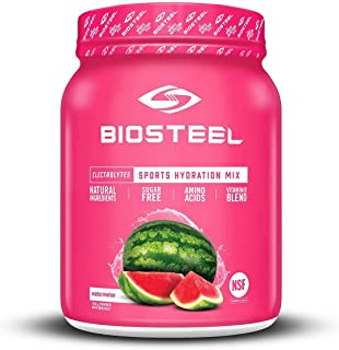 BioSteel Hydration Mix - Sugar Free, Essential Electrolyte Sports Drink Powder - Watermelon - 100 Servings