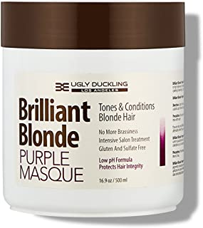 Brilliant Blonde Purple Mask 16.9 oz (500 ml). Tones & Conditions Blonde Hair. Low pH Formula, Sulfate Free, Gluten Free