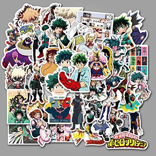 Jyuesi Originele 50 Stks Mijn Hero Academia Stickers Anime Boku Geen Hero Koffer Skateboard Laptop
