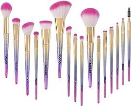 Docolor Makeup Brushes, 16pcs Professional Fantasy Make up Brush Set Foundation Blending Blush Concealer Eye Shadow Cruelty-Free Synthetic Face Liquid Powder Cream Cosmetics Brushes with Rainbow Box