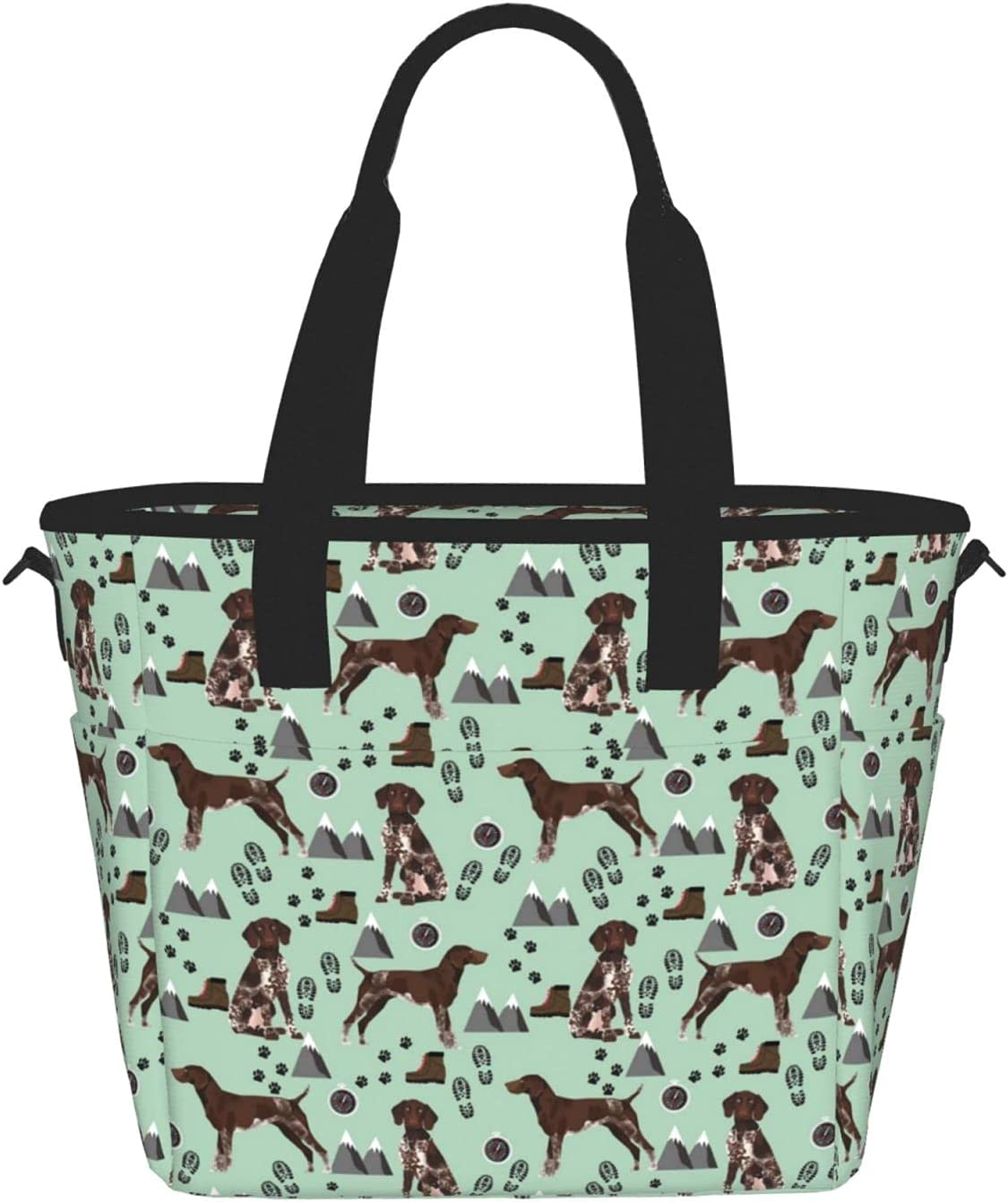 German Shorthaired Pointer Dog Reusable Lunch Bag Max 52% Low price OFF Insulated Tote