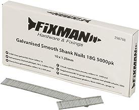 Fixman 298788 Gegalvaniseerde gladde schacht nagels 18G 1.25 x 10mm - Pack van 5000