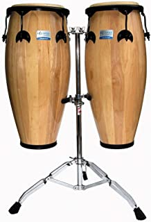 Natural Conga Set, 10'' and 11'', w/Cradle Stand