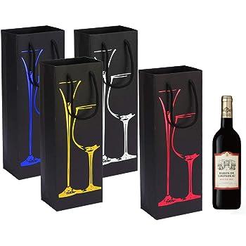 INHEMI 8 Paquete Bolsas de Papel para Botellas de Vino Embalaje Botellas Vino para Aniversario,Cumpleaños y Festival: Amazon.es: Hogar