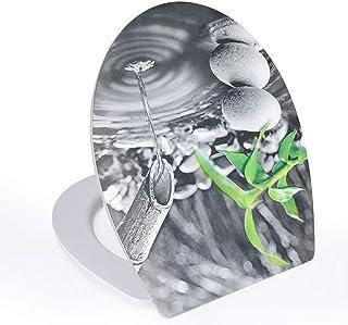 Asiento de inodoro Gotas de agua 3D Tapa Del VáTer con tapa de inodoro ultra resistente