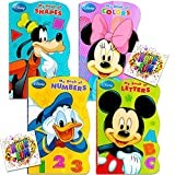 Disney Mickey Mouse 'My First Books' -- Set of 4 Shaped Disney Mickey Mouse Board Books for Toddlers Kids
