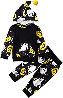 Little-Big-Brother-Sister-Matching-Outfits Halloween Jack-O'-Lantern Print Series Hoodies Pant Sets+Romper+T-Shirt Dress