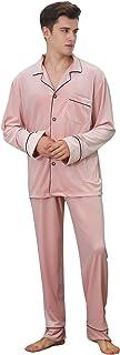 YAOMEI Mens Pyjamas Set Velvet Long, 2020 Mens Silky Long Sleeves Nighties Couples PJ Set Sleepwear Nightwear, Lingerie Bu...
