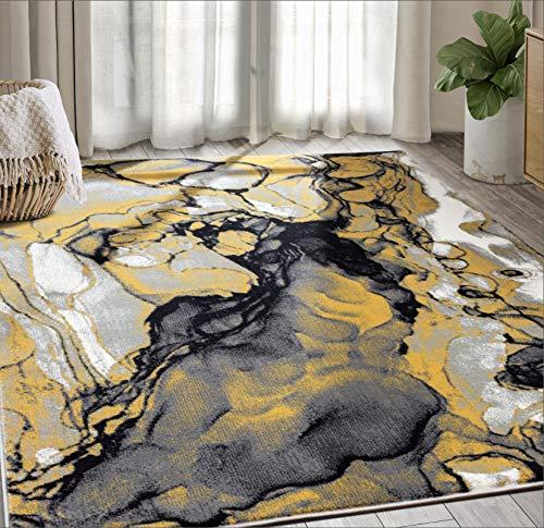 Modern Grey & Yellow Marble 7