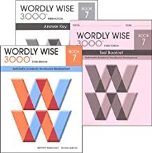 Wordly Wise 3000 Grade 7 SET -- Student, Answer Key and Tests (Systematic Academic Vocabulary Development)