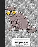 Recipe Paper: Book Scottish Fold Cat (Weezag Recipe Paper Notebook)
