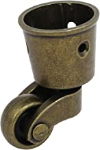 uxcell uxcell1-Inch Wheel Dia Swivel Round Cup Caster Bronze Tone for Chair Table