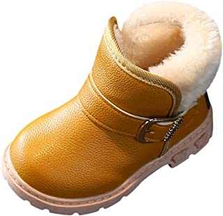 Baby Boys Girls Snow Boots Convenient Kids Causal Winter Shoes with Warm Velvet Upper Lucoo baby boots