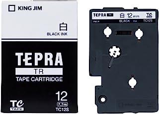 キングジム テープカートリッジ テプラTR 12mm TC12S 白