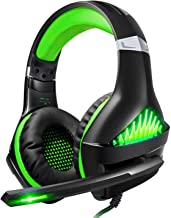 BlueFire Upgraded Professional PS4 Gaming Headset 3.5mm Wired Bass Stereo Noise Isolation Gaming Headphone with Mic and LE...