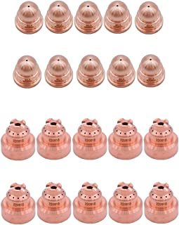 Donwind 10pcs 220818 Shield cap & 10pcs 220930 nozzle Fits Hypertherm Powermax 45XP 65 85 105