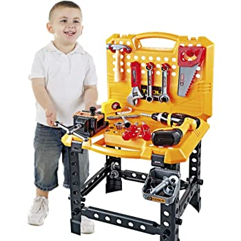 Young Chois Kids Construction Toy Workbench for Toddlers Boys Toy Work Shop Tools Workbench for Toddlers Young Choi/'s T108 110 Pieces Kids Power Workbench Construction Tool Bench Set with Toy Tool Drill and Helmet