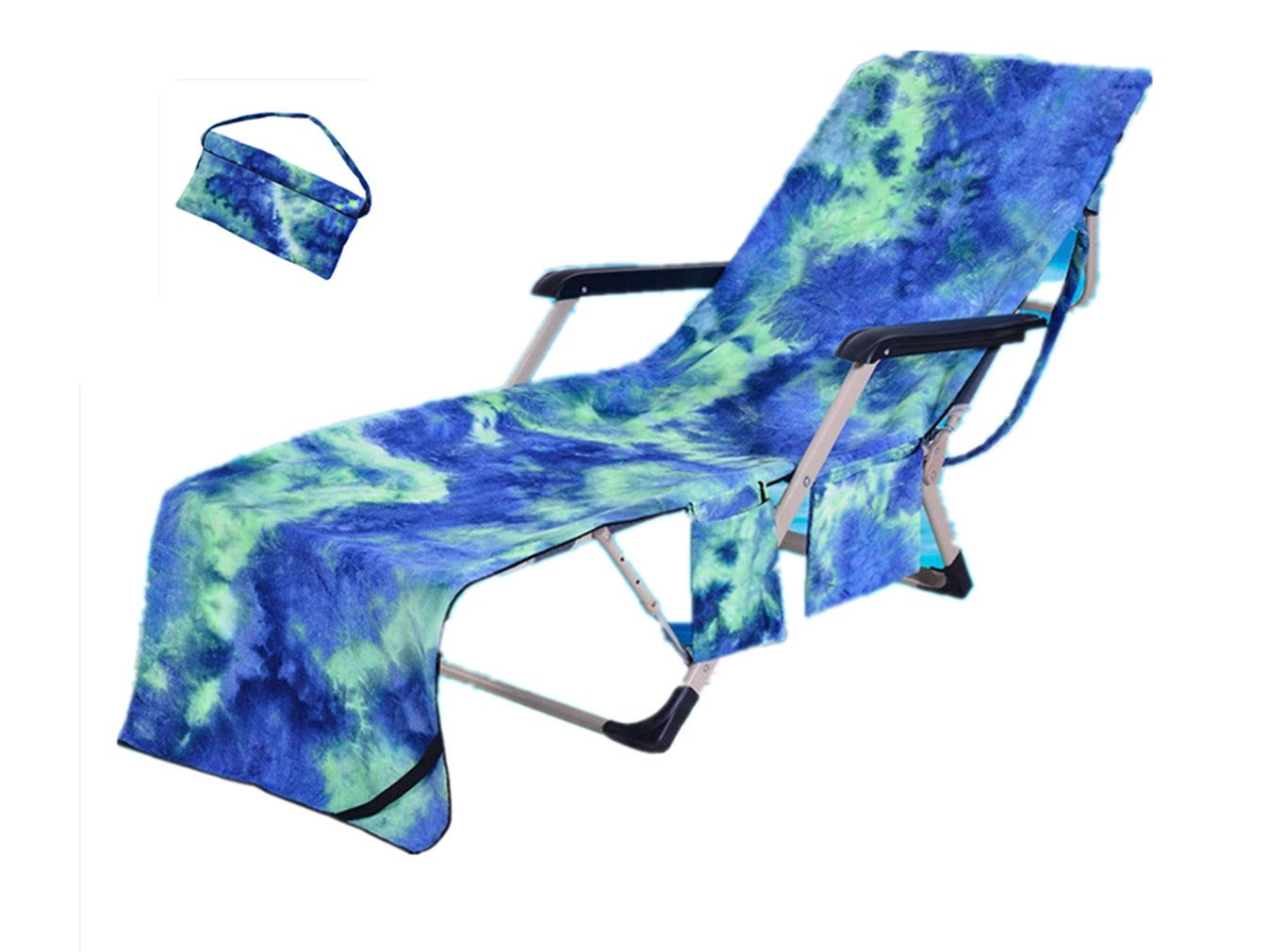 Sticker Superb Estilo de Pintura al óleo Toalla de Deportes de Playa para Jardin Tumbona de Patio Compañero de Hamaca Cubrir con Bolsa Lateral 210x75 cm Hombres y Mujeres (Azul): Amazon.es: Hogar