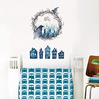 Ghost Bird Decoración Creativa Pegatinas de Fondo Dormitorio Aparador Sala de estar Decoración Del Hogar Pegatinas de Pared