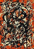 壁のキャンバスアート絵画プリント - キャンバスの壁のアート赤と黒の抽象的な芸術写真の絵のための絵のための絵 (Color : PM723, Size (Inch) : 50x70cm no frame)