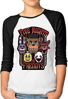 Women's Five Nights at Freddy 3/4 Sleeves Baseball T-Shirts