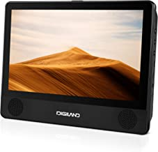 DigiLand Portable DVD Player & Android 8.1 Wi-Fi Tablet Combo 9-Inch Touchscreen, Quad-Core 1.3GHz, 16GB Storage, With Headrest Strap, AC Charger Adapter and Car Charger, For Car and Home Use (DL9003)